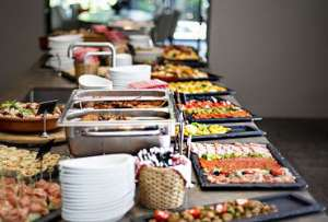 Koud en warm buffet